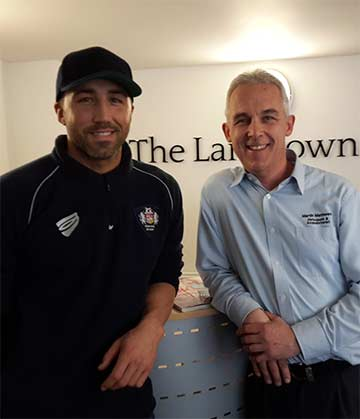 gavin henson at Lansdown Clinic Bath with Martin Matthews